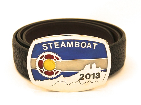 Belt Buckle given as the Stage 4 award in 2013.