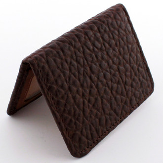 Vintage Bison Brown Slim Wallet