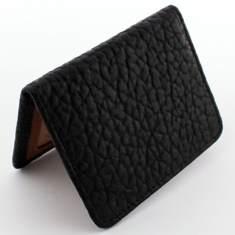 Vintage Bison Black Slim Wallet