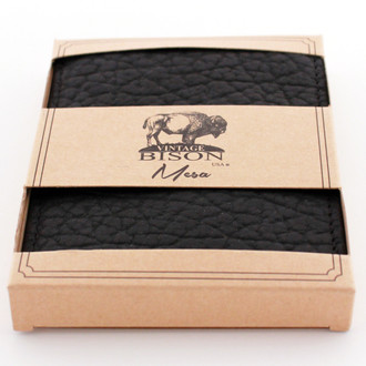 Vintage Bison Black Wallet