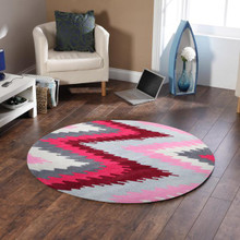 Chevron Plush 630 Berry 200cm Round