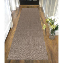 Eco Sisal Herringbone Grey 80x400cm Runner