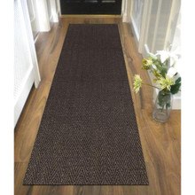 Eco Sisal Herringbone Charcoal 80x400cm Runner
