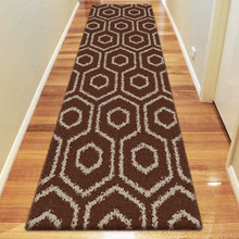 Deluxe Shag 046 Brown 80x300cm Runner