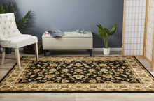 Noble Black Traditional Rug