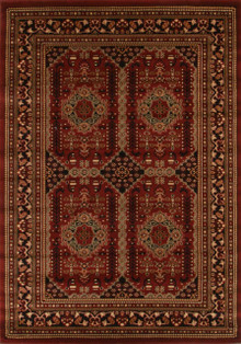 Heritage 5 Red Traditional Rug