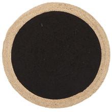 Alpine Black Jute 150cm Round