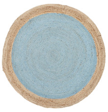 Alpine Blue Jute 120cm Round