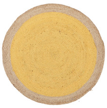 Alpine Yellow Jute 120cm Round