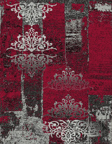 Boston Modern 6968 Red Rug