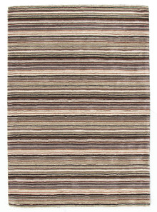 Plush Wool Beige Stripe Rug