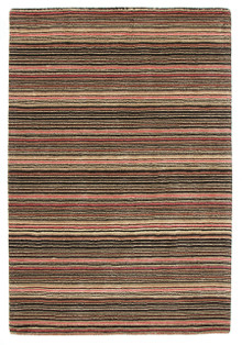 Plush Wool Black Stripe Rug