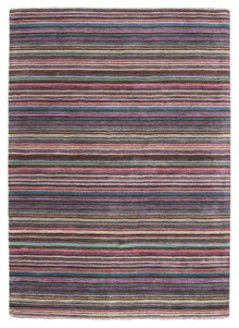 Plush Wool Violet Stripe Rug