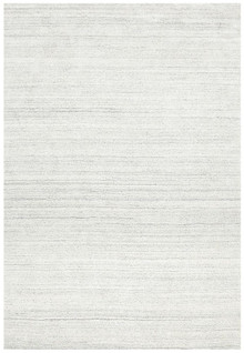 Luxury Plush Light Grey Wool Rug