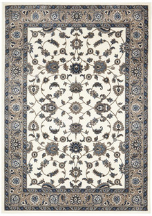 Noble White Beige Traditional Rug