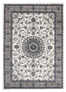 Noble 9 White Beige Traditional Rug