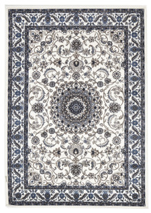 Noble 9 White Traditional Rug