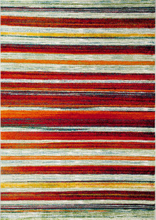 Avalon 8080 Red Stripe modern Rug