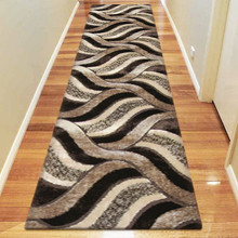 Amore Luxury 5328 Brown 80x300cm Shaggy Runner