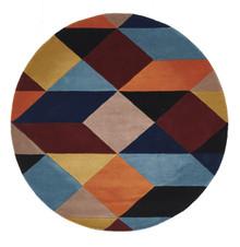 Belrose Plush 904 Blue 200cm Round Wool