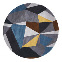 Belrose Plush 902 Grey 150cm Round Wool