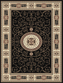 Kensington 7647 Black Traditional Rug
