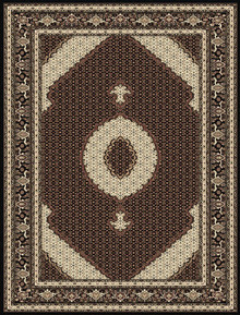Kensington 7650 Traditional Black Rug