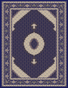 Kensington 7650 Traditional Blue Rug