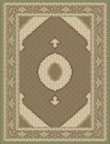 Kensington 7650 Traditional Green Rug