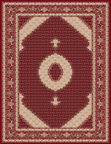 Kensington 7650 Traditional Red Rug
