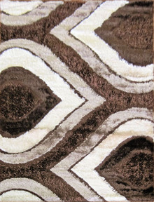Amore Luxury 1204 Brown Shaggy Rug