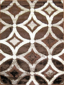Amore Luxury 6048 Shaggy Brown Rug