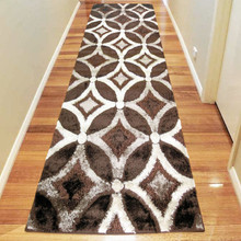Amore Luxury 6048 Brown 80x300cm Shaggy Runner