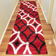 Amore Luxury 6048 Red 80x300cm Shaggy Runner