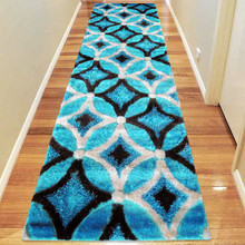 Amore Luxury 6048 Turquoise 80x300cm Shaggy Runner
