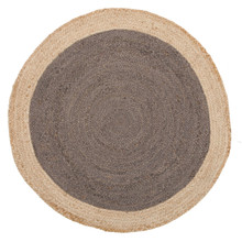 Alpine Charcoal Jute 150cm Round