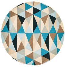 Belrose Plush 901 Grey 150cm Round Wool