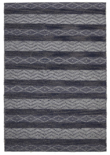 Ortiz 7501 Navy Wool And Jute Rug