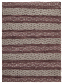 Ortiz 7501 Rose Wool And Jute Rug
