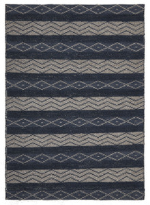 Ortiz 7501 Teal Wool And Jute Rug