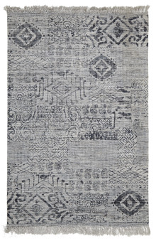 Ortiz 7505 Blue Viscose And Cotton Rug