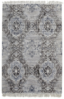 Ortiz 7505 Charcoal Viscose And Cotton Rug