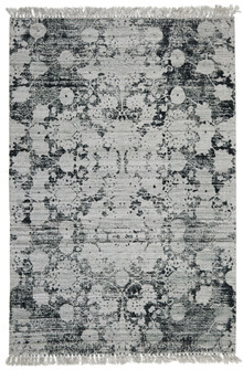 Ortiz 7505 Green Viscose And Cotton Rug