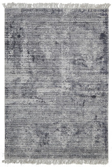 Ortiz 7505 Navy Viscose And Cotton Rug