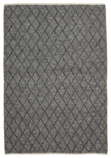 Ortiz 7502 Blue Viscose And Wool Plush Rug