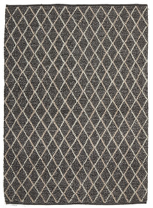 Ortiz 7502 Charcoal Viscose And Wool Plush Rug