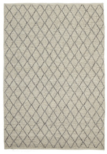 Ortiz 7502 Ivory Viscose And Wool Plush Rug
