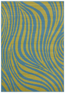 London 2127 Blue Swirl Rug