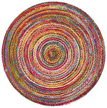 Alpine Chindi Multi 120cm Round Cotton Rug
