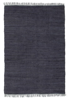 Abby Code Navy Flat Weave Cotton Rug